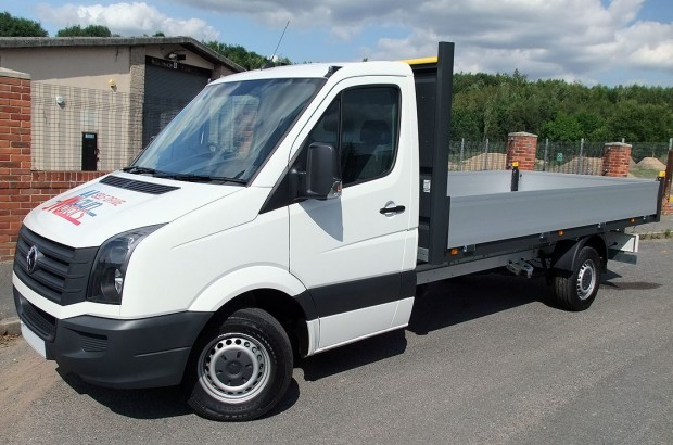 Dropside Van Hire 14 foot 3.5 tonne VW Crafter from Maun Motors Self Drive rental