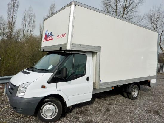 14 foot Dropwell Luton Box Van Pantechnicon Rental 01