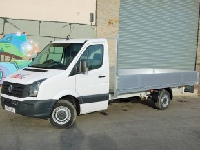 16 foot Dropside Rental 3.5 tonne extra long flatbed VW Crafter from Maun Motors Self Drive van hire