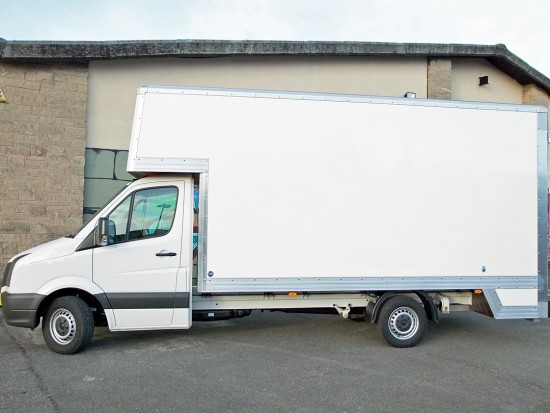 16 foot Dropwell Luton Box Van VW Crafter 04