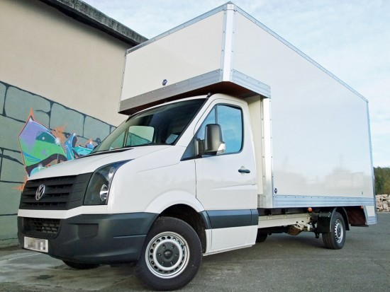 16 foot Dropwell Luton Box Van VW Crafter 05
