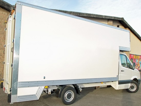 16 foot Dropwell Luton Box Van VW Crafter 11