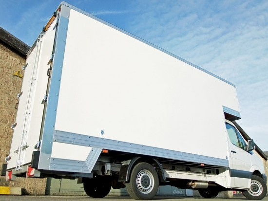 16 foot Dropwell Luton Box Van VW Crafter 12