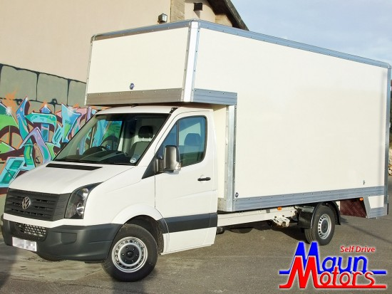 Removals van hire - 16 foot Dropwell Luton Box Van Rental from Maun Motors Self Drive 3.5 tonne van hire