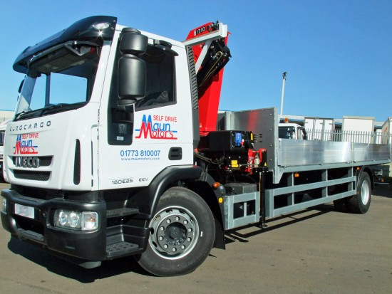 18 tonne Crane Lorry Front with Mount Loader 02