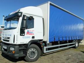 Curtain side truck hire - 18 tonne HGV Curtainside Sleeper Cab Rental from Maun Motors Self Drive hire