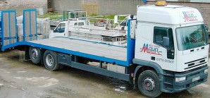 26t GVW Beavertail Plant Transporter Lorry Rental from Maun Motors Self Drive Commercial Vehicle Hire