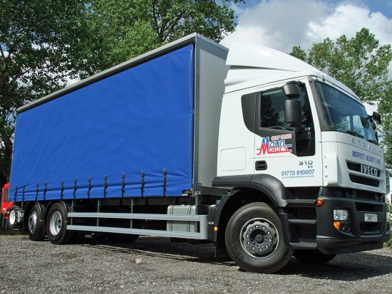 26 tonne Moffett Curtain Side Sleeper Cab Rental 02