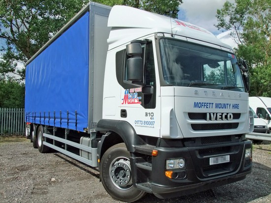 26 tonne Moffett Curtain Side Sleeper Cab Rental 05