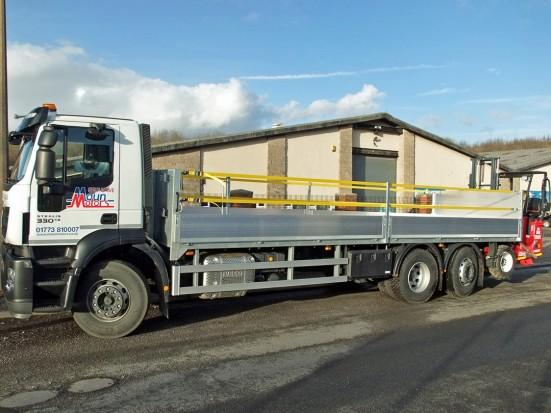 26 tonne Moffett Dropside Day Cab Rental 06