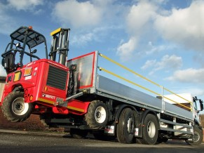 Dropside 26 tonne Day Cab Lorry with Moffett Fork Lift mounting kit for hire from Maun Motors Self Drive rentals 08