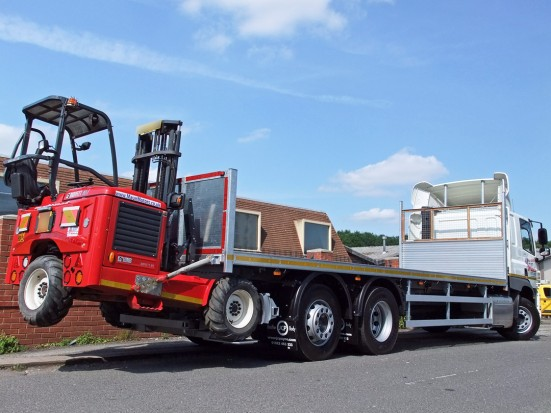 26 tonne Moffett Flatbed Sleeper Cab Rental 10