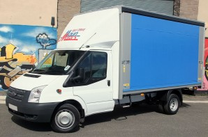 3.5 tonne Curtain Side Van Hire Transit Rental from Maun Motors Self Drive van hire