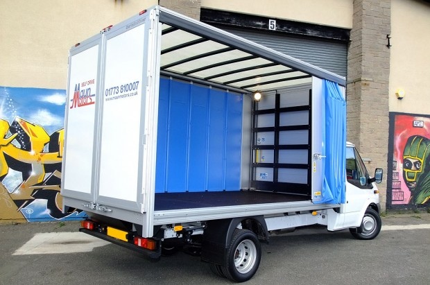3-5t Curtain Side Van Transit Rental 02