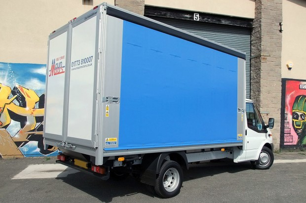 3-5t Curtain Side Van Transit Rental 03