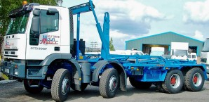 32 tonne Rolonof Roll On Roll Off RORO Hook Loader Truck Rental from Maun Motors Self Drive lorry hire