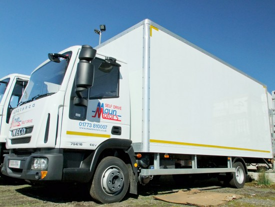 7-5 tonne Box Van with Tail Lift Hire 03