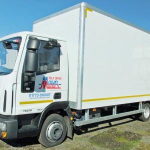 maun motors self drive box van hire 7 5 tonne no tail. Black Bedroom Furniture Sets. Home Design Ideas