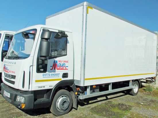 7.5 tonne Box Van without Tail Lift Hire