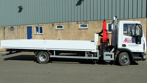7-5 tonne Crane Lorry Hire Front Mount Loader Rental 02