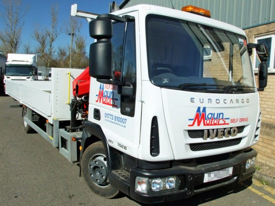 7-5 tonne Crane Lorry Hire Front Mount Loader Rental 03