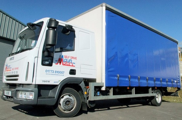 7.5 tonne curtain side truck hire - 7.5t Curtainsider with Sleeper Cab rental from Maun Motors Self Drive commercial vehicle hire Tautliner