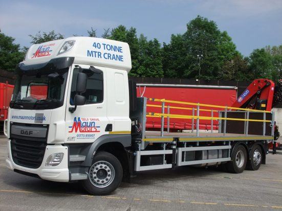DAF 26t Rear Mount Flatbed with HMF_01