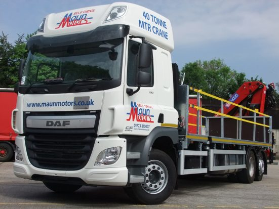 DAF 26t Rear Mount Flatbed with HMF_05