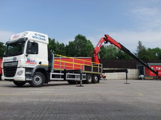 DAF 26t Rear Mount Flatbed with HMF_15