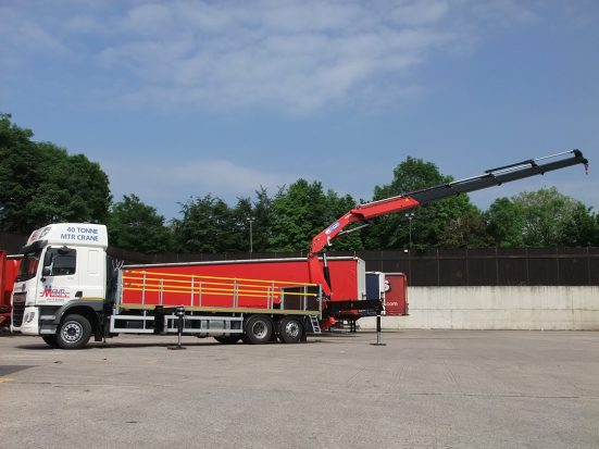 DAF 26t Rear Mount Flatbed with HMF_19