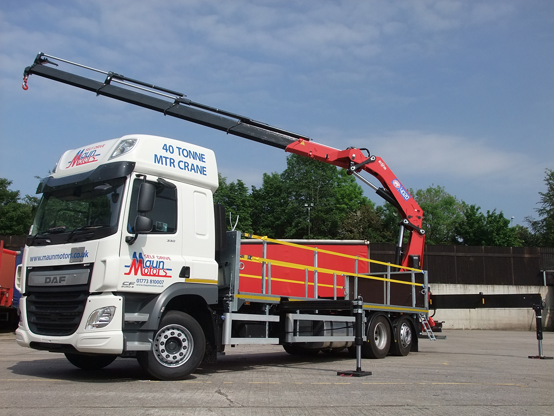 26t Crane Lorry - Dropside with HEAVY LIFT Crane, Rear Mounted Loader, Drop Axle - Sleeper Cab