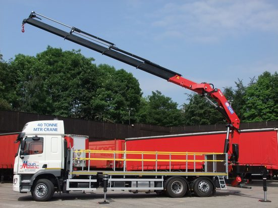 DAF 26t Rear Mount Flatbed with HMF_25