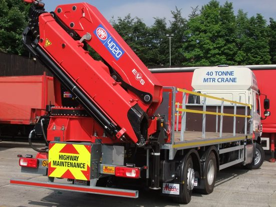 DAF 26t Rear Mount Flatbed with HMF_29