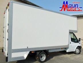 3.5 tonne 14 foot Dropwell Luton Box Van Rental from Maun Motors Self Drive van hire