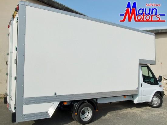 3.5 tonne 14 foot Dropwell Luton Box Van Rental from Maun Motors Self Drive van hire