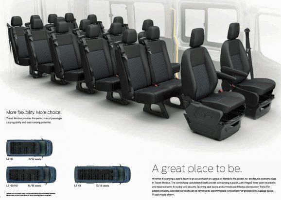 Ford Transit 2015 Minibus Layout 02