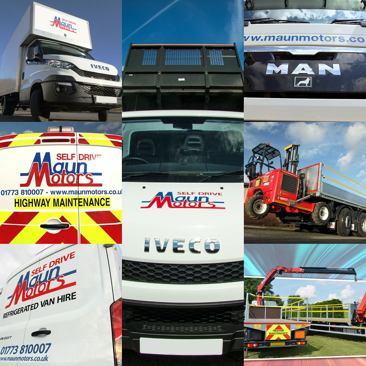Contract Hire of Commercial Vehicles - Vans, Trucks, HIAB Crane Lorries, Minibuses, Moffett Fork Lifts & HGV Trailers