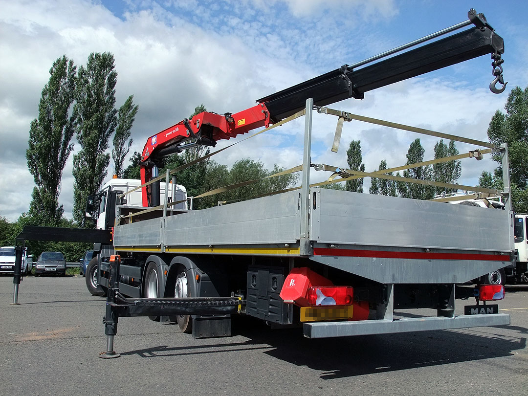 Hiab lorry hire from Maun Motors Self Drive 26 tonne crane lorry vehicle rental