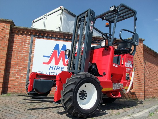 Moffett M8 Truck Mounted Fork Lift Rental 02