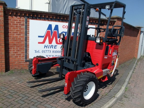 Moffett M8 Truck Mounted Fork Lift Rental 04