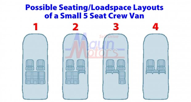 Small Crew Van Seating Layout - wide