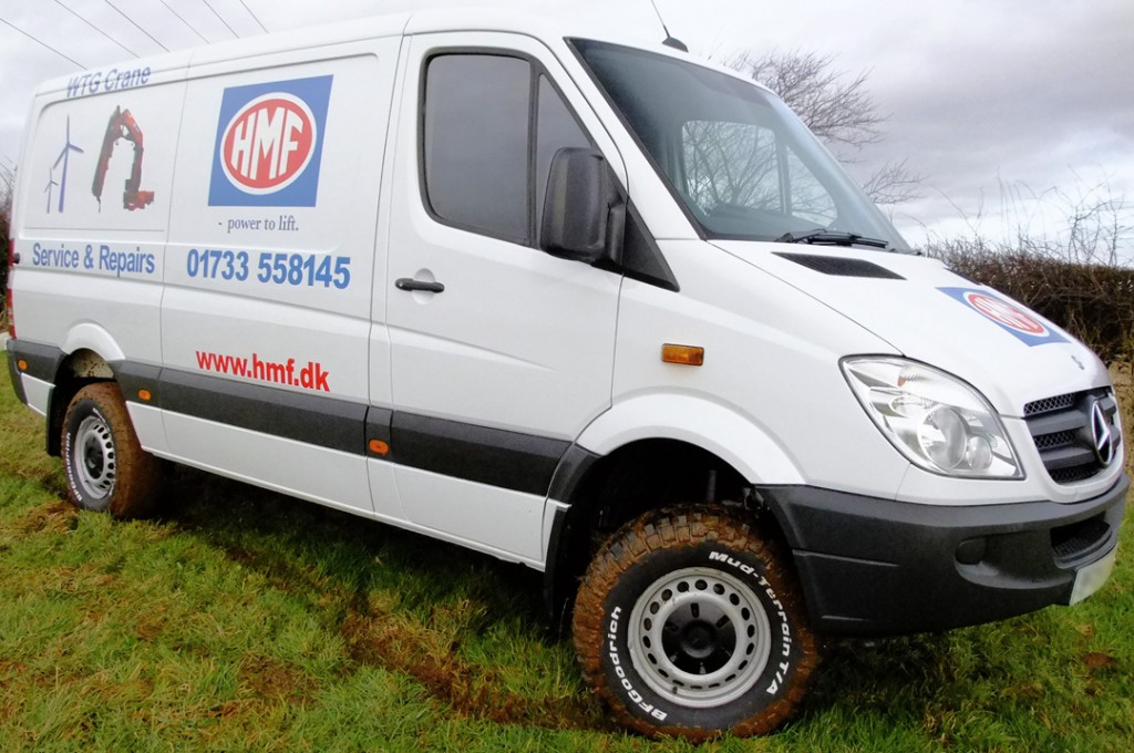 Specialist Commercial Vehicle Hire from Maun Motors Self Drive - Mercedes-Sprinter 4x4 Panel Van - Specialised van hire, specialist lorry hire, specialist van hire, specialised vehicle hire