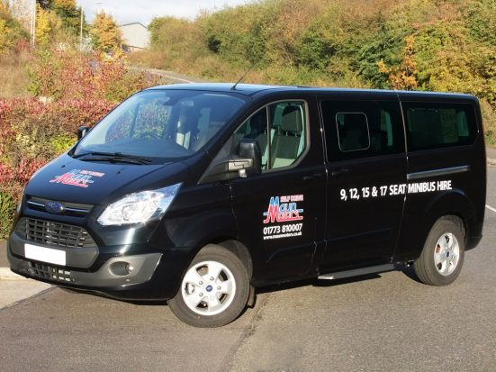 9 seat Luxury Minibus Hire - Ford Tourneo Custom - Executive minibus rental