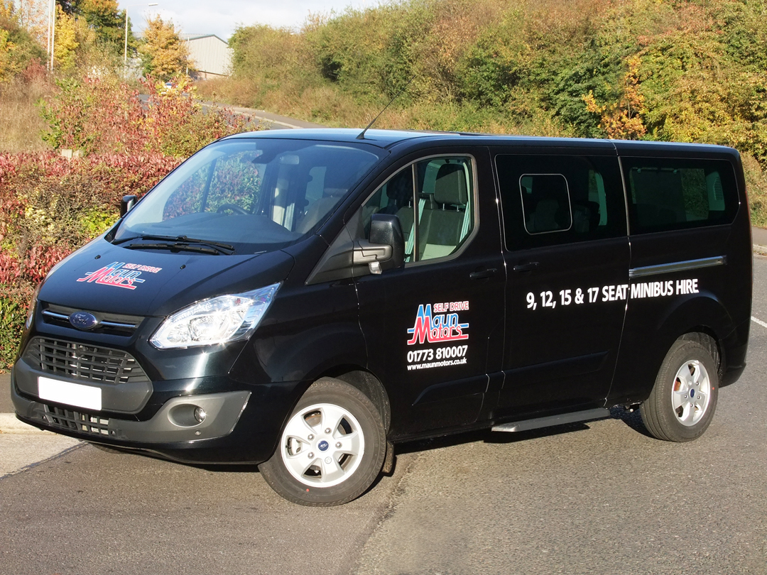 9 Seat Luxury Minibus Hire - e.g. Ford Tourneo Custom