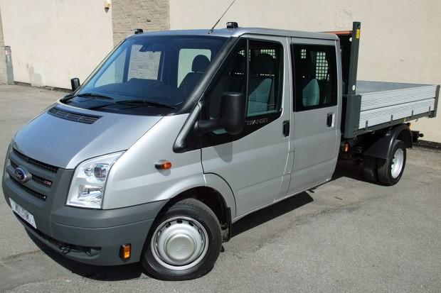 Transit Crew Cab Tipper Rental 01