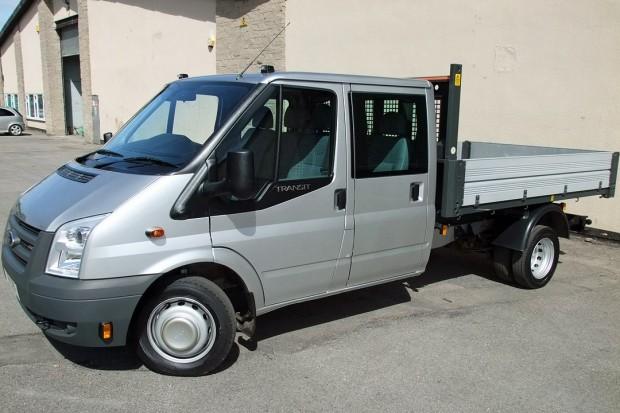 Transit Crew Cab Tipper Rental 02