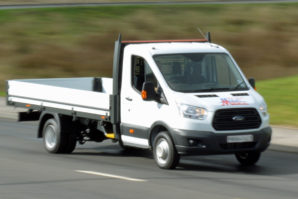 Transit dropside van available for self drive hire