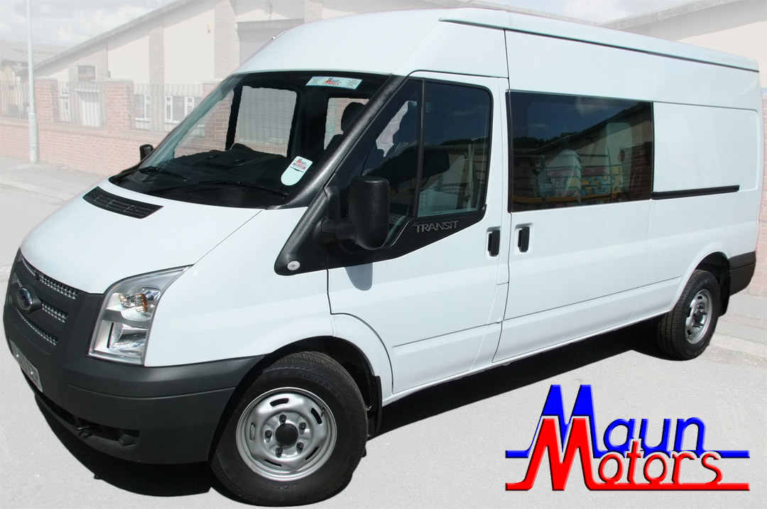 CREW Van Hire - 6 Seat, Long Wheelbase, Med Roof, Transit-type