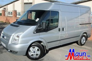 Van hire - MWB van hire - Transit MWB Medium Roof Panel Van Rental from Maun Motors Self Drive van hire