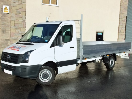 VW Crafter 16 foot Dropside Rental 01